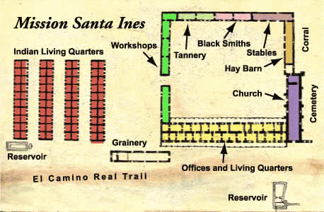 California missions santa ines for Mission santa barbara floor plan